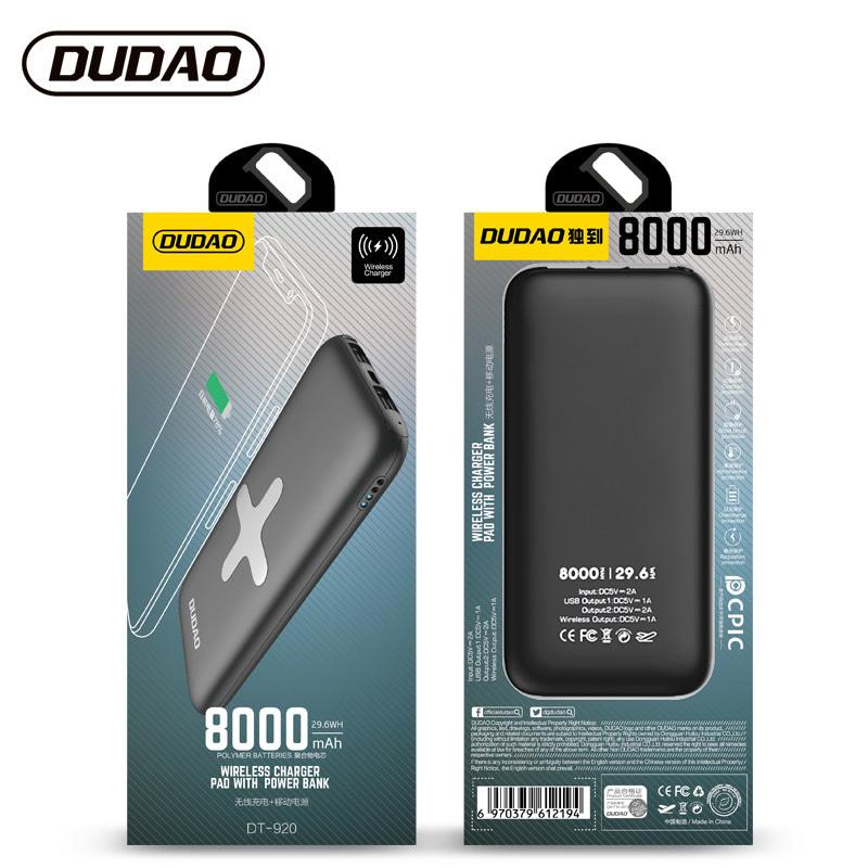 独到DT-920无线充电器加移动电源充电宝两用快充手机容量8000mAh