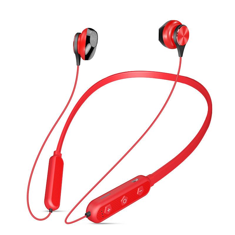 独到U5Plus无线蓝牙耳机运动跑步挂脖式双耳磁吸入耳式耳机